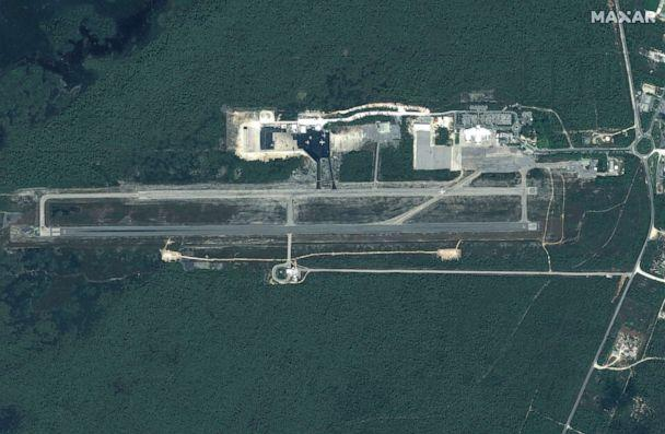 PHOTO: Before:Leonard Thompson International Airport on Great Abaco Island before Hurricane Dorian struck the Bahamas in a satellite image taken Oct. 25, 2018. (Maxar Technologies via Reuters)