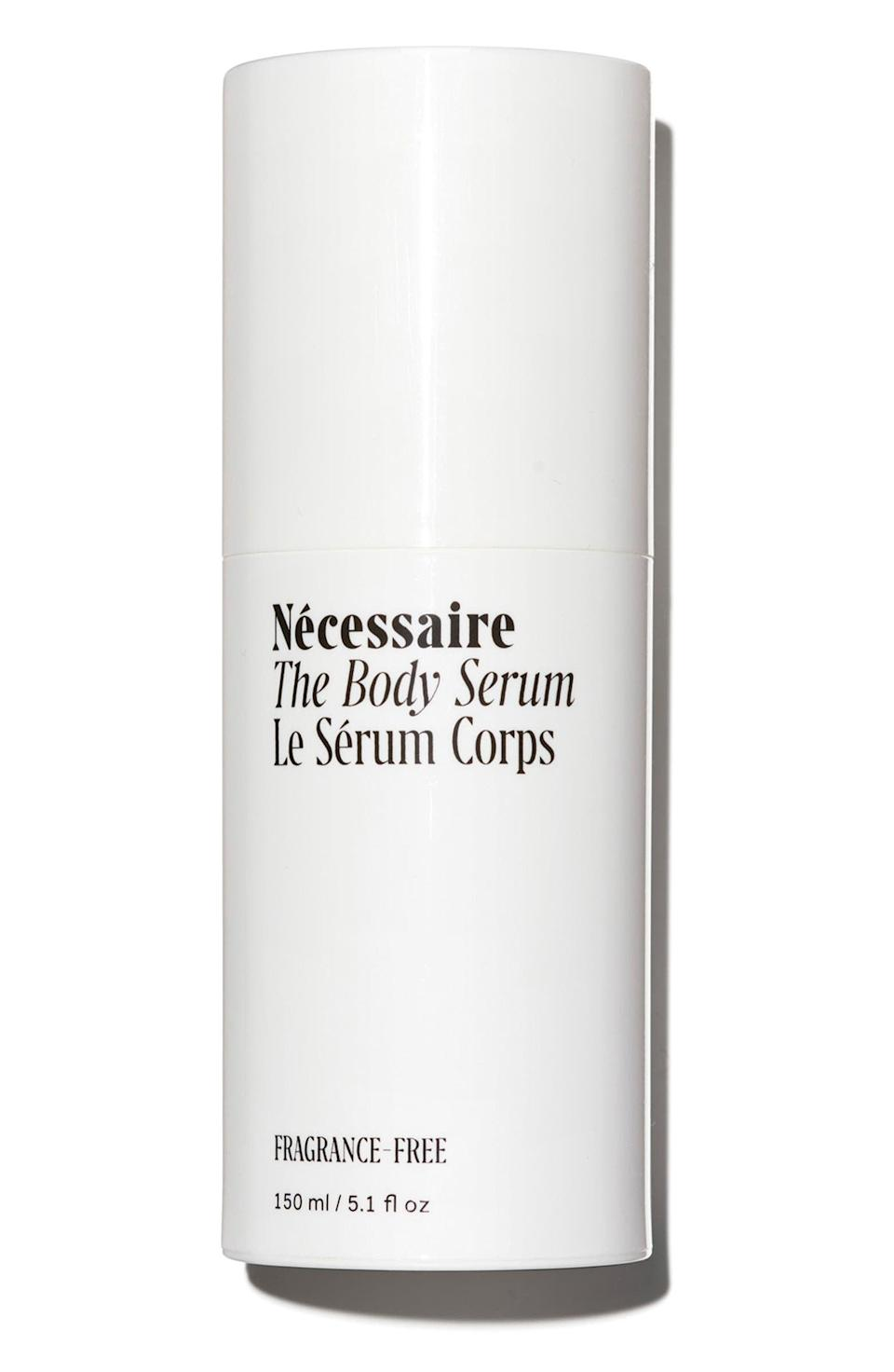 <p>Give your body some love with the <span>Necessaire The Body Serum</span> ($45). It's packed with multiple hydrating ingredients and even niacinamide. </p>
