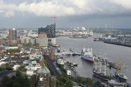 General view of the harbour of Hamburg with construction side Philharmonic Hall, May 12, 2014. REUTERS/Fabian Bimmer