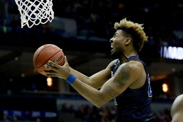 Nevada wing Jordan Caroline is returning for his senior season after pulling out of the NBA draft.