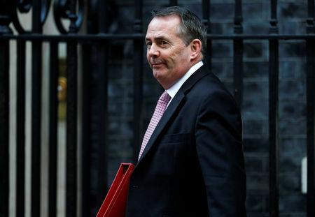 Britain's Secretary of State for International Trade Liam Fox arrives in Downing Street, London, Britain, November 13, 2018. REUTERS/Peter Nicholls