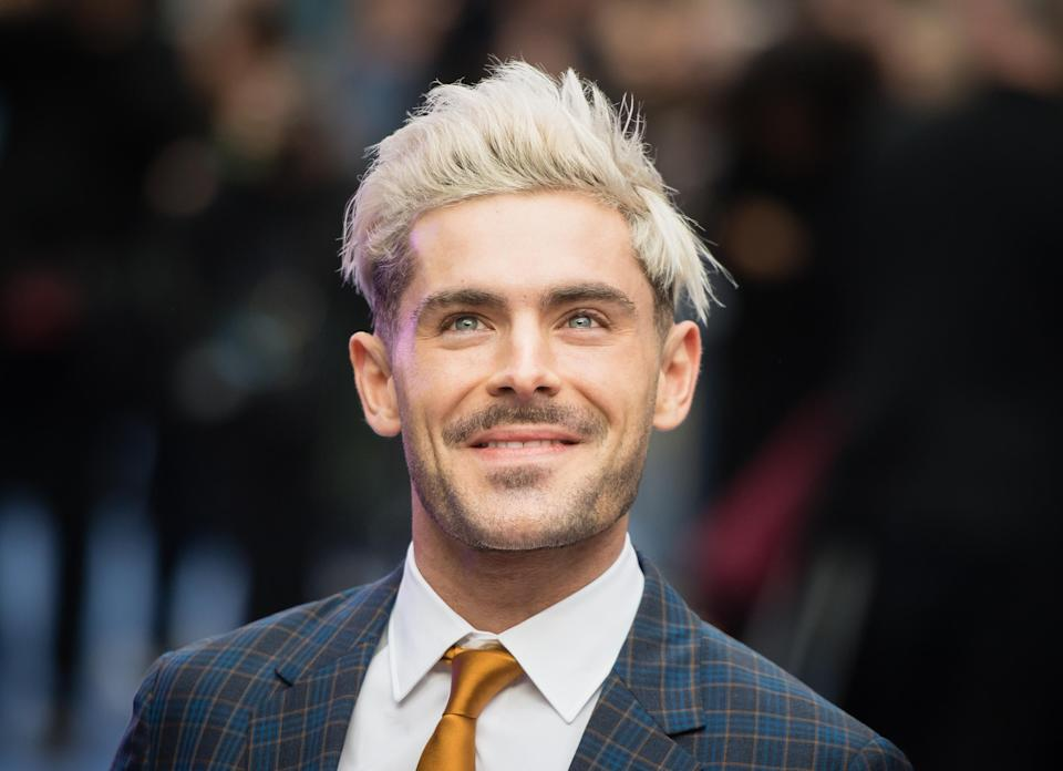 """LONDON, ENGLAND – APRIL 24: Zac Efron attends the """"Extremely Wicked, Shockingly Evil and Vile"""" European premiere at The Curzon Mayfair on April 24, 2019 in London, England. (Photo by Samir Hussein/Samir Hussein/WireImage)"""