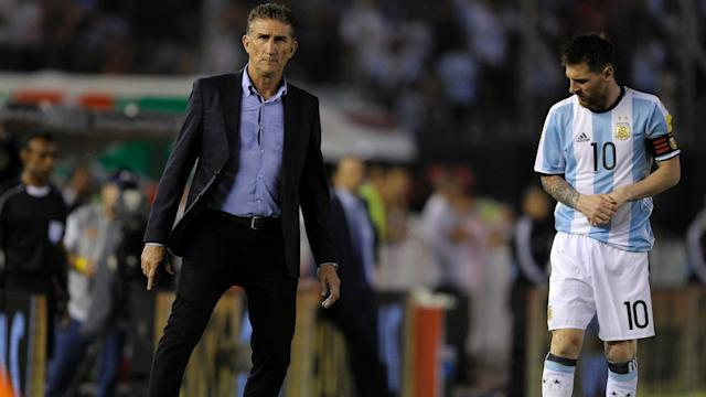 Edgardo Bauza Lionel Messi Argentina Chile Eliminatorias Sudamericanas 2018