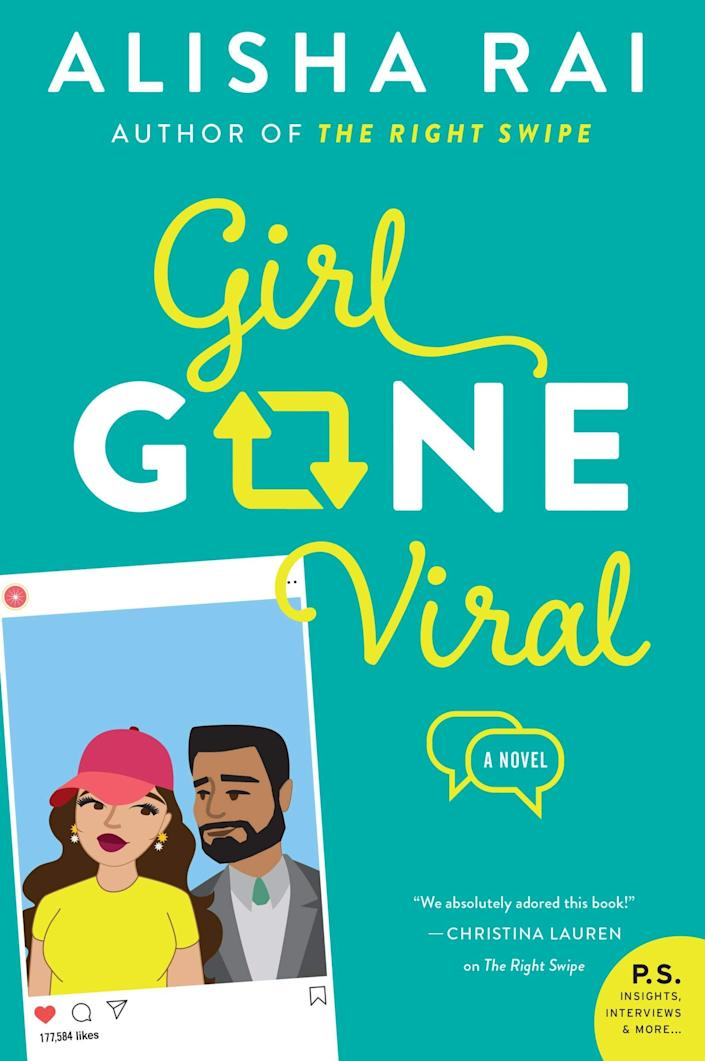 <p>Rhiannon's best friend and business partner, Katrina King, gets her own story in <span><strong>Girl Gone Viral</strong> by Alisha Rai</span> ($12), the second book in the Modern Love series. Katrina prefers life as a recluse, so when she finds herself at the center of a viral tweet, she escapes to the country with the help of her bodyguard (and unrequited crush), Jasvinder Singh.</p> <p>Just like in <strong>The Right Swipe, Girl Gone Viral</strong> features a delightfully diverse cast of characters. Katrina's family on her mother's side is Thai, while Jas is Punjabi-American. It's a slow-burn love story that's soft and sweet.</p> <p>The third book in the series, <strong>First Comes Like</strong>, featuring Jia Ahmed, a Pakistani-American, was just released in February, and it's on my to-read list!</p>