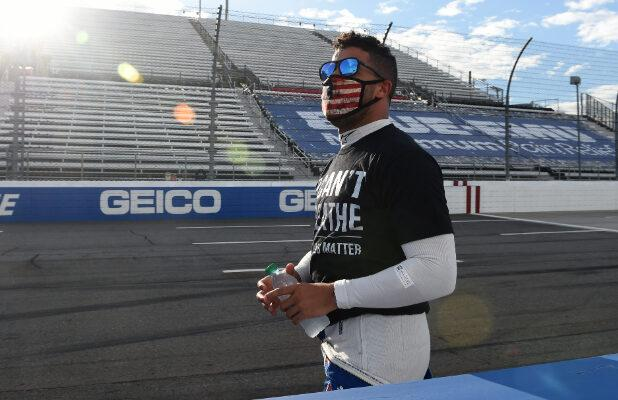 Bubba Wallace Says Rope in Garage Was a 'Straight-Up Noose,' Not a Door Pull (Video)