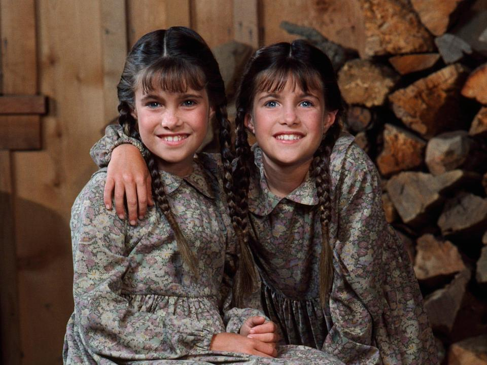 Lindsay and Sidney Greenbush as Carrie Ingalls in Little House on the Prairie.