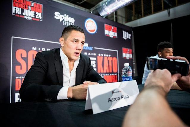 Aaron Pico will make his MMA debut on Saturday against Zach Freeman. (Photo credit: Bellator)