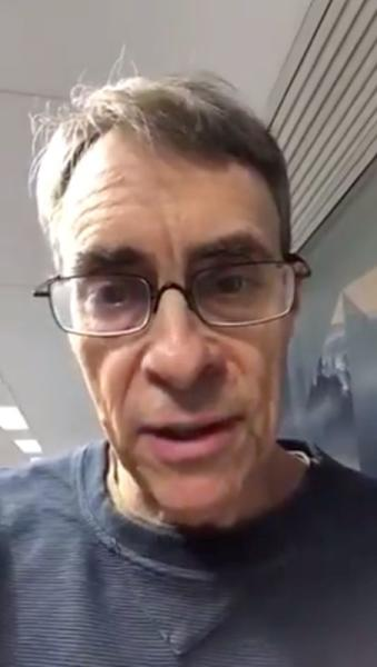 Executive Director of Human Rights Watch, Kenneth Roth, is seen at Hong Kong International Airport