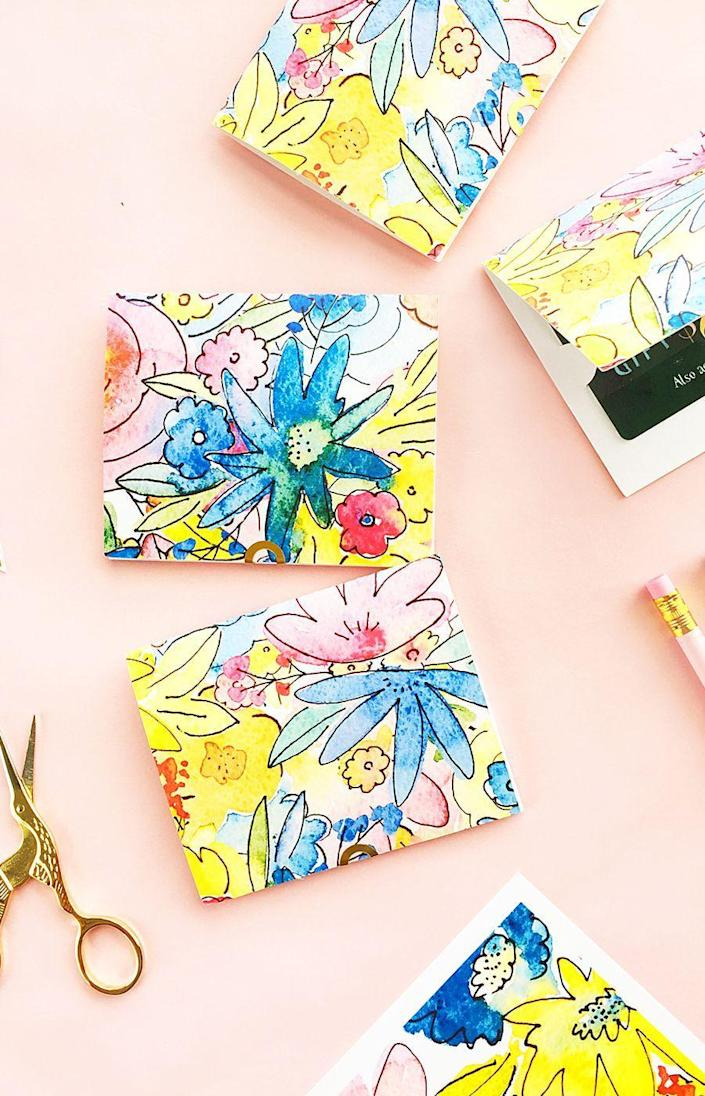 """<p>Gift cards are always desirable, but they're not always the most original present out there—until now. These holders spiff them up beautifully.</p><p><strong>Get the tutorial at <a href=""""https://jenwoodhouse.com/diy-gift-card-holder-2/"""" rel=""""nofollow noopener"""" target=""""_blank"""" data-ylk=""""slk:The House of Wood"""" class=""""link rapid-noclick-resp"""">The House of Wood</a>.</strong></p><p><strong><a class=""""link rapid-noclick-resp"""" href=""""https://go.redirectingat.com?id=74968X1596630&url=https%3A%2F%2Fwww.walmart.com%2Fbrowse%2Farts-crafts-sewing%2Fcraft-cutting-tools%2F1334134_8495017_9187189&sref=https%3A%2F%2Fwww.thepioneerwoman.com%2Fholidays-celebrations%2Fgifts%2Fg32307619%2Fdiy-gifts-for-mom%2F"""" rel=""""nofollow noopener"""" target=""""_blank"""" data-ylk=""""slk:SHOP CUTTING TOOLS"""">SHOP CUTTING TOOLS</a></strong></p>"""