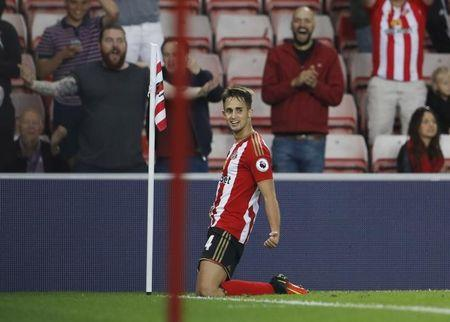 Football Soccer Britain - Sunderland v Shrewsbury Town - EFL Cup Second Round - The Stadium of Light - 24/8/16 Sunderland's Adnan Januzaj celebrates scoring their first goal Action Images via Reuters / Lee Smith/ Livepic/ Files