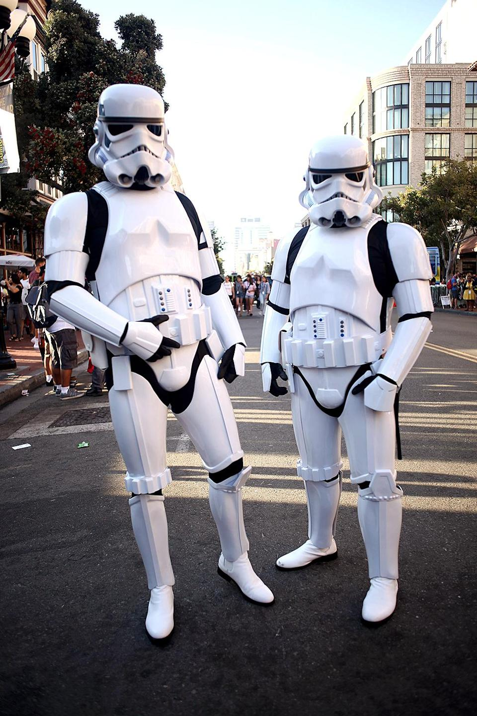 <p>Cosplayers dressed as Stormtroopers at Comic-Con International on July 19, 2018, in San Diego. (Photo: Tommaso Boddi/Getty Images) </p>