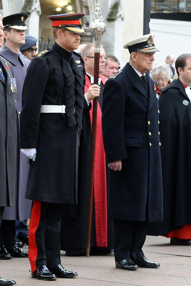 Prince Harry and Prince Philip in 2016