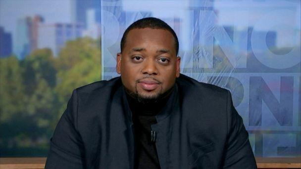 PHOTO: Brandon Mitchell, juror 52 in the trial against former Minneapolis police officer Derek Chauvin, speaks to ABC News for an interview on 'Good Morning America' on April 28, 2021. (ABC News)