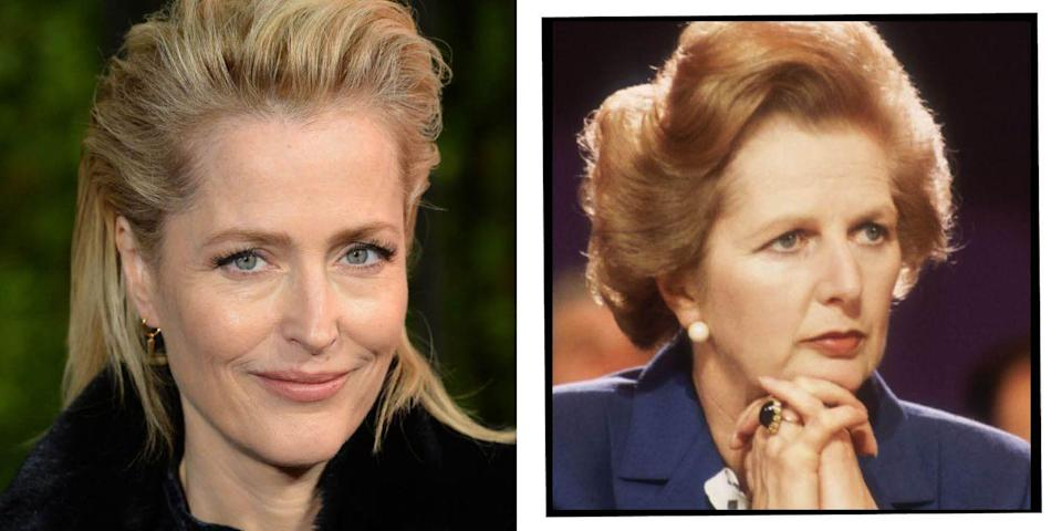 """<p><strong>Who plays Princess Diana</strong><strong> in The Crown season 4?</strong></p><p><strong>Gillian Anderson: </strong>After first appearing on Netflix's <a href=""""https://www.elle.com/uk/life-and-culture/culture/a30653679/sex-education-season-3-release-date-spoilers-cast-trailer-and-plot/"""" rel=""""nofollow noopener"""" target=""""_blank"""" data-ylk=""""slk:Sex Education"""" class=""""link rapid-noclick-resp"""">Sex Education</a>, Anderson took on the task of playing Britain's first female Prime Minister. Anderson is of course a prominent actor having made waves with the 1990s series The X-Files (which she won a Golden Globe for in 1997) and then more recently opposite Jamie Dornan in The Fall.</p>"""