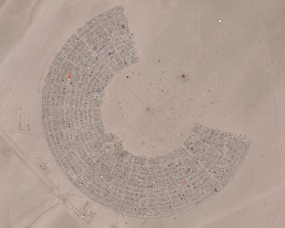 Burning Man is a city built by it's 70,000 inhabitants out in the Nevada desert — and it has a bit of a reputation for its known nudity and sex parties. Source: Getty Images