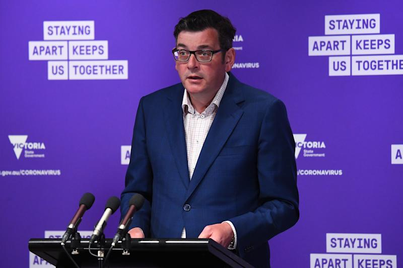 Victorian Premier Daniel Andrews is confident the Shepparton outbreak can be contained. Source: AAP