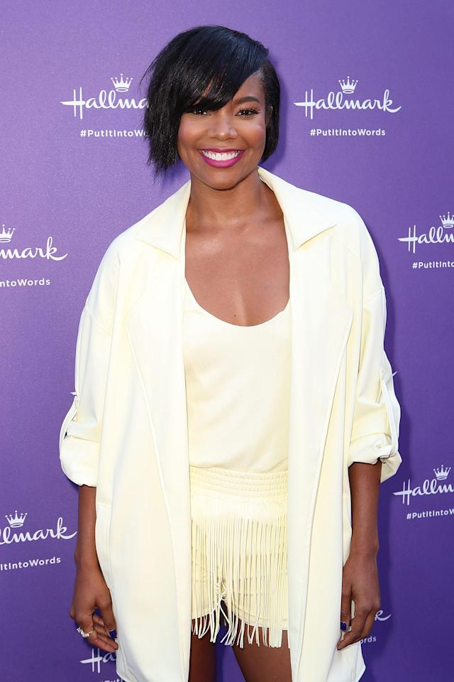 """Gabrielle Union arrives at Hallmark's """"When You Care Enough to Put It Into Words"""" event on July 30 in Los Angeles. (Photo: Ari Perilstein/Getty Images for mediaplacement)"""