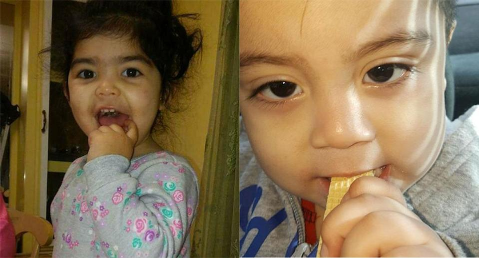 Two mothers are accusing a Washington state daycare center of waxing their children's eyebrows. (Photos via Facebook)