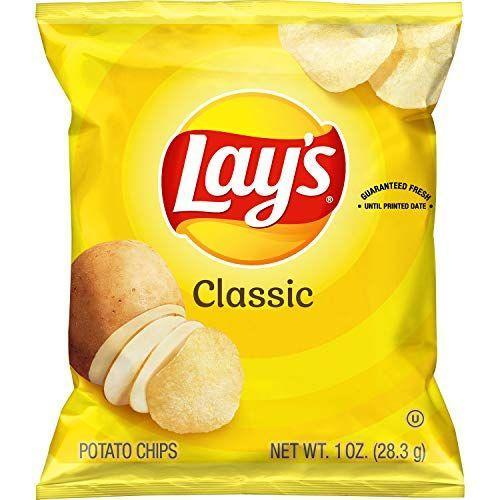 "<p><strong>Lay's</strong></p><p>amazon.com</p><p><strong>$17.74</strong></p><p><a href=""https://www.amazon.com/dp/B072M1NC4M?tag=syn-yahoo-20&ascsubtag=%5Bartid%7C2089.g.35651204%5Bsrc%7Cyahoo-us"" rel=""nofollow noopener"" target=""_blank"" data-ylk=""slk:Shop Now"" class=""link rapid-noclick-resp"">Shop Now</a></p><p>You don't always need to pair your vegan sandwich with a side of vegetables—potato chips are another option, if you're in the mood. The only ingredients in Lay's original potato chips are potatoes, vegetable oils (sunflower, corn, and/or canola), and salt! The deli-style original, dill pickle, and lightly salted flavors are vegan, too.</p><p><em>Per 1 bag: 160 cals, 10 g fat (1.5 g sat), 15 g carbs, 0.5 g sugar, 170 mg sodium, 1 g fiber, 2 g protein. </em><em><br></em></p>"