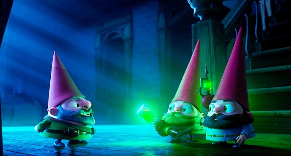"""<p><strong>What it's about:</strong> """"After moving into a new house with her mom, high schooler Chloe discovers a troupe of talking garden gnomes who need her help saving the world.""""</p> <p><a href=""""https://www.netflix.com/title/80232279"""" class=""""link rapid-noclick-resp"""" rel=""""nofollow noopener"""" target=""""_blank"""" data-ylk=""""slk:Stream Gnome Alone on Netflix!""""> Stream <strong>Gnome Alone</strong> on Netflix!</a></p>"""