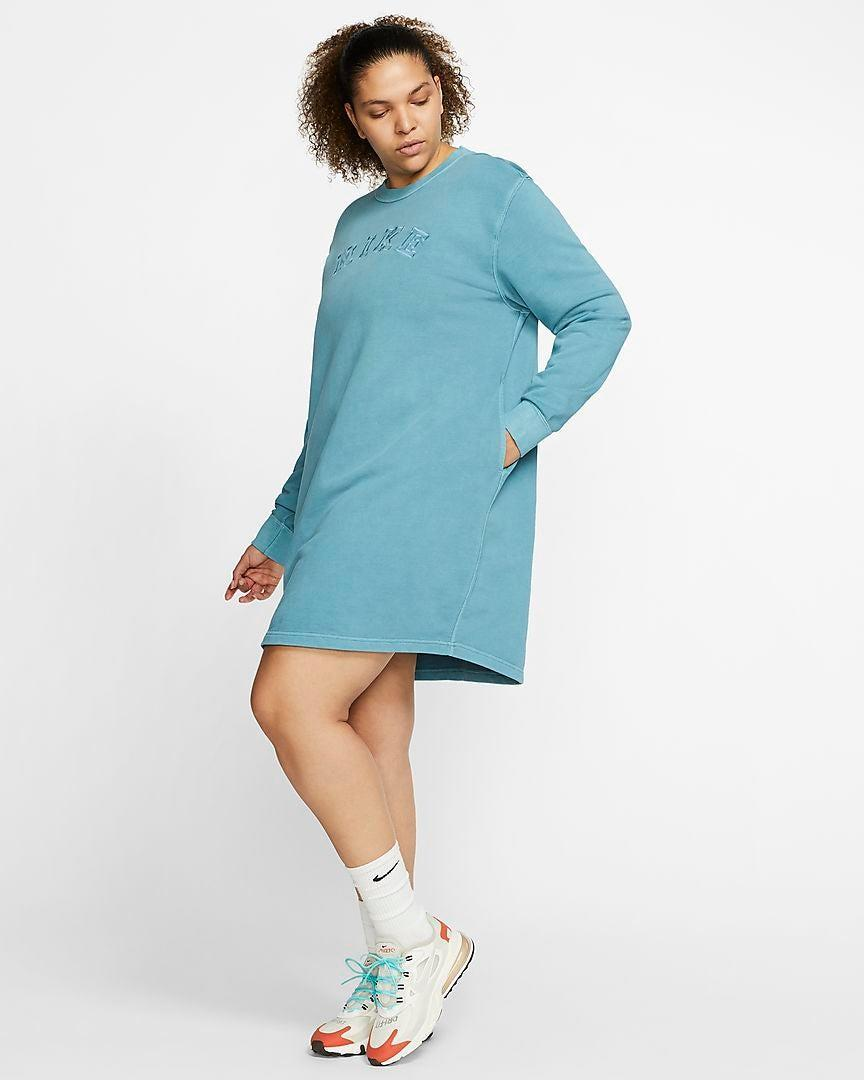 """<h2>Nike French Terry Dress<br></h2><br>We know you sneaker folk out there regularly troll Nike's website for new kicks, but did you know that it's a fashion crowd-favorite destination for some of the coolest loungewear out? Whether's a pair of <a href=""""https://www.refinery29.com/en-us/best-palazzo-sweatpants-styles"""" rel=""""nofollow noopener"""" target=""""_blank"""" data-ylk=""""slk:wide-legged lounge pants"""" class=""""link rapid-noclick-resp"""">wide-legged lounge pants</a> that basically broke the Nordstrom Anniversary sale or this super-cozy, down-to-earth sheath that's going to be perfect for running errands on chilly mornings, the sporty retailer boasts a host of fall-friendly separates.<br><br><strong>Nike</strong> French Terry Dress, $, available at <a href=""""https://go.skimresources.com/?id=30283X879131&url=https%3A%2F%2Fwww.nike.com%2Ft%2Fsportswear-womens-french-terry-dress-plus-size-fzjDJ0%2FCU8576-424"""" rel=""""nofollow noopener"""" target=""""_blank"""" data-ylk=""""slk:Nike"""" class=""""link rapid-noclick-resp"""">Nike</a>"""