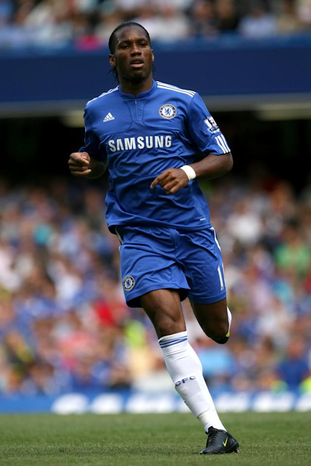 <p>Chelsea won the League and Cup double, Drogba scoring 29 goals in 32 games. </p>