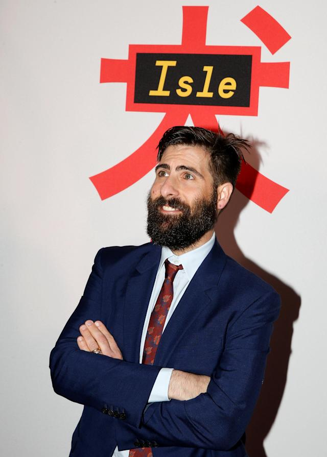 Jason Schwartzman arrives for a screening of <em>Isle of Dogs</em> in New York on March 20. (Photo: Reuters/Brendan McDermid)