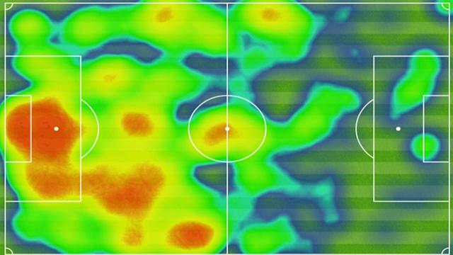 PSG Heat Map vs Barcelona Uefa Champions League