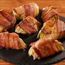"""<p>We love cooking with <a href=""""https://www.delish.com/uk/cooking/recipes/a29695876/thanksgiving-cabbage-recipe/"""" rel=""""nofollow noopener"""" target=""""_blank"""" data-ylk=""""slk:cabbage"""" class=""""link rapid-noclick-resp"""">cabbage</a>. And here we've wrapped wedges of the stuff in bacon (it's dreamy), but if you've got vegetarian friends coming over, feel free to skip it. Simply roasted is just as addictive...</p><p>Get the <a href=""""https://www.delish.com/uk/cooking/recipes/a34985200/bacon-cabbage-dippers-recipe/"""" rel=""""nofollow noopener"""" target=""""_blank"""" data-ylk=""""slk:Bacon-Wrapped Cabbage"""" class=""""link rapid-noclick-resp"""">Bacon-Wrapped Cabbage</a> recipe.</p>"""