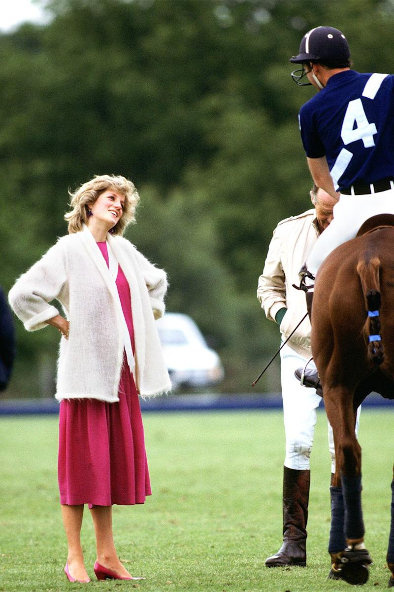 Still more polo at Windsor. Princess Diana speaks to Prince Charles while pregnant with Prince Harry.