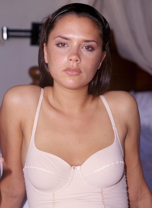 Victoria Beckham poses for a photo shoot at the Four Seasons Hotel in Kuta,Bali April 29 1997 (Photo by John Stanton/WireImage)
