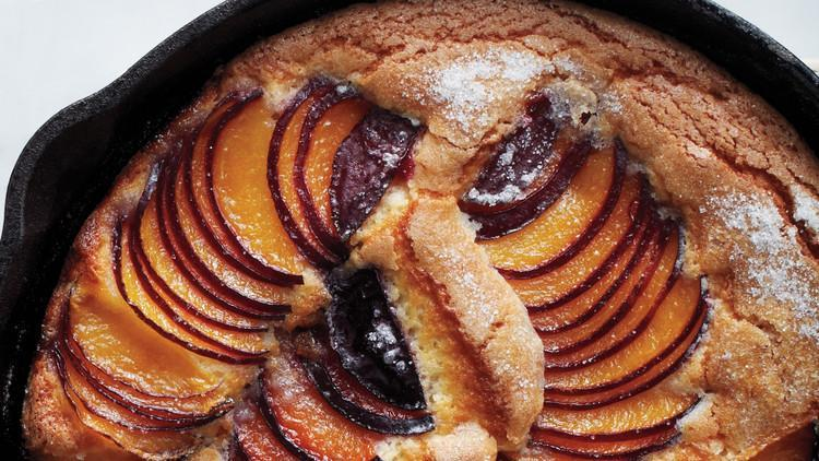 """<p>No matter the season, you can use this skillet cake to let seasonal fruit shine. Try <a href=""""https://www.marthastewart.com/275115/peach-recipes"""" rel=""""nofollow noopener"""" target=""""_blank"""" data-ylk=""""slk:juicy peaches"""" class=""""link rapid-noclick-resp"""">juicy peaches</a> and <a href=""""https://www.marthastewart.com/275304/apricot-recipes"""" rel=""""nofollow noopener"""" target=""""_blank"""" data-ylk=""""slk:apricots"""" class=""""link rapid-noclick-resp"""">apricots</a> in the summer or rich figs in the fall for this simple, one-skillet cake. <a href=""""https://www.marthastewart.com/1090783/fruit-skillet-cake"""" rel=""""nofollow noopener"""" target=""""_blank"""" data-ylk=""""slk:View recipe"""" class=""""link rapid-noclick-resp""""> View recipe </a></p>"""