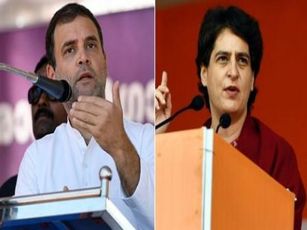 Congress leaders Rahul Gandhi (left), Priyanka Gandhi Vadra (right)
