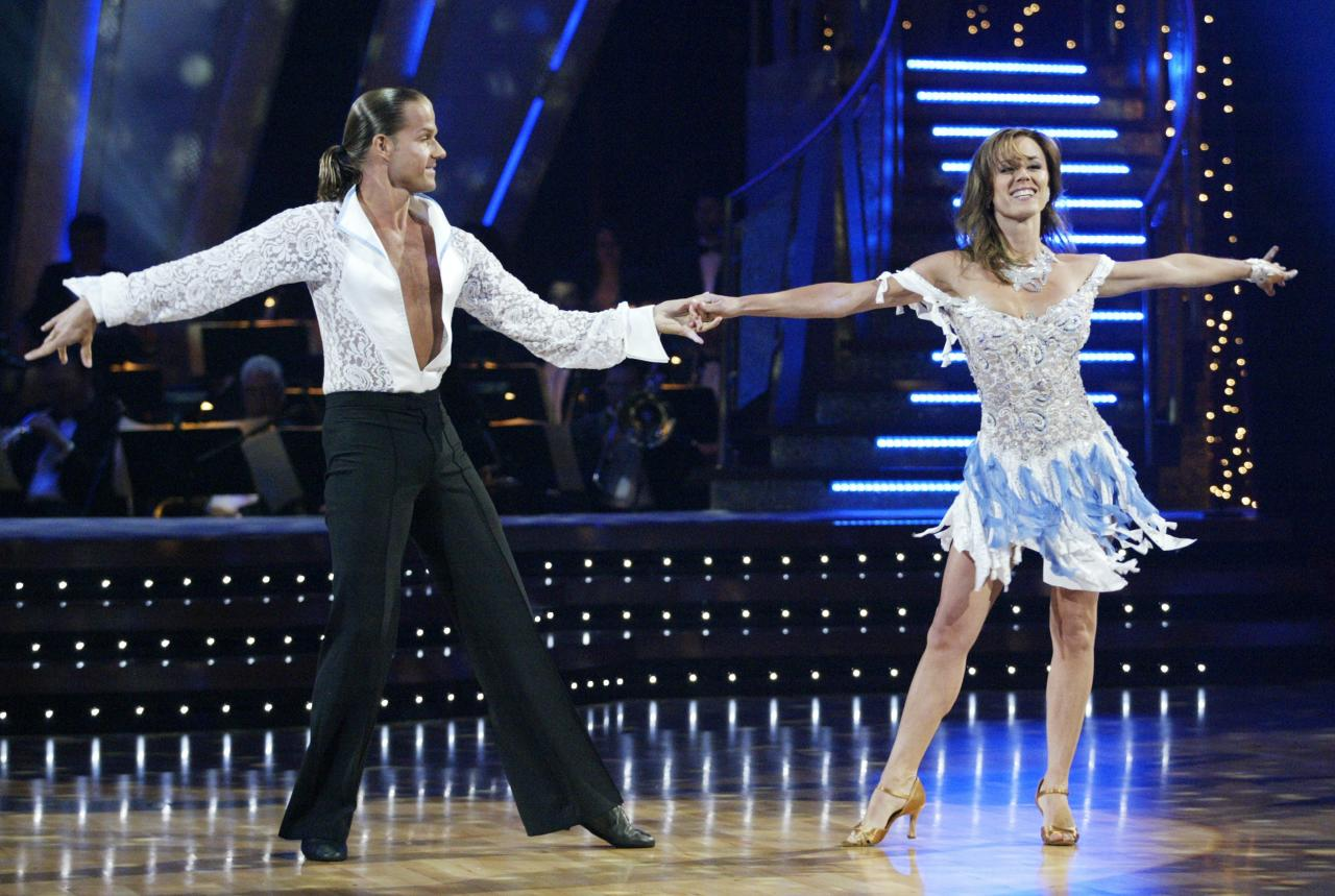 The very first<em>Bachelorette</em> was also the first Bachelor Nation member to appear on<em>Dancing with the Stars,</em>joining the show in its debut season in 2005. She was the first to go, however, with partner Louis van Amstel.