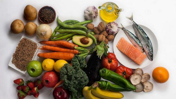 PHOTO: Vegetables, fruits, beans, nuts, whole grains, fish and olive oil make up the majority of a Mediterranean diet. (STOCK PHOTO/Getty Images)