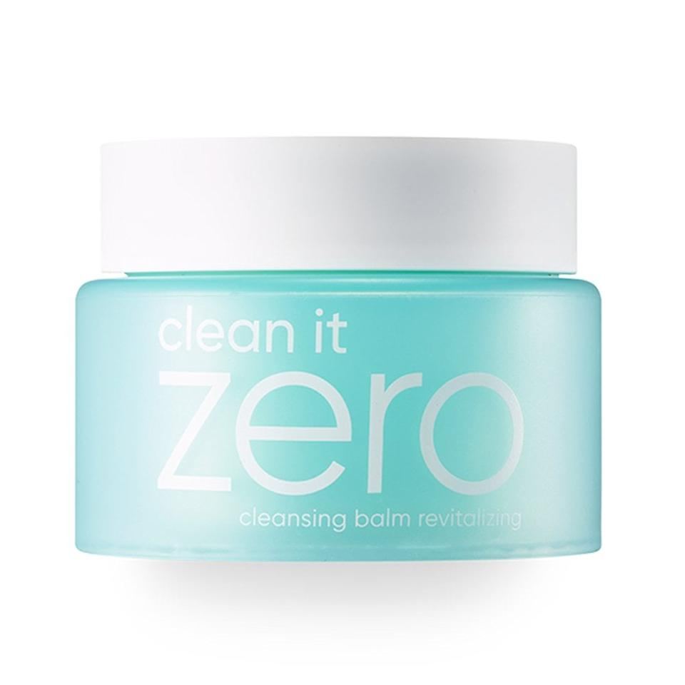 "<p>Melt some of the <a href=""https://www.popsugar.com/buy/Banilla-Co-Clean-Zero-Revitalizing-Cleansing-Balm-3--1-Makeup-Remover-497999?p_name=Banilla%20Co%20Clean%20It%20Zero%20Revitalizing%20Cleansing%20Balm%203-in-1%20Makeup%20Remover&retailer=amazon.com&pid=497999&price=18&evar1=bella%3Aus&evar9=46715934&evar98=https%3A%2F%2Fwww.popsugar.com%2Fphoto-gallery%2F46715934%2Fimage%2F46716138%2FBanilla-Co-Clean-It-Zero-Revitalizing-Cleansing-Balm-3-in-1-Makeup-Remover&list1=beauty%20products%2Cmakeup%20remover%2Cskin%20care&prop13=api&pdata=1"" rel=""nofollow"" data-shoppable-link=""1"" target=""_blank"" class=""ga-track"" data-ga-category=""Related"" data-ga-label=""https://www.amazon.com/Cleansing-Revitalizing-Combination-without-Paraben/dp/B07BSS9PKB/ref=sr_1_1_sspa?keywords=clean+it+zero&amp;qid=1570121647&amp;s=gateway&amp;sr=8-1-spons&amp;psc=1&amp;smid=A2ZNS4IBYNR41V&amp;spLa=ZW5jcnlwdGVkUXVhbGlmaWVyPUEzSDJVOFFRVVJYSElWJmVuY3J5cHRlZElkPUEwMjgyOTU3UkROQUVES0ZQVVFJJmVuY3J5cHRlZEFkSWQ9QTA5Mzc4NjczSUhMRTkzVFI5WEZVJndpZGdldE5hbWU9c3BfYXRmJmFjdGlvbj1jbGlja1JlZGlyZWN0JmRvTm90TG9nQ2xpY2s9dHJ1ZQ=="" data-ga-action=""In-Line Links"">Banilla Co Clean It Zero Revitalizing Cleansing Balm 3-in-1 Makeup Remover</a> ($18) between your palms and onto your face and watch every last trace of makeup disappear as you rinse it off. Plus, it cleanses and moisturizes your skin too. </p>"