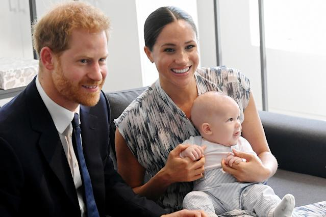 Harry and Meghan are living in LA with son Archie. (Getty Images)