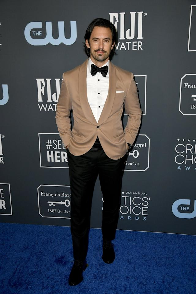 "<p>Looking better than ever, <a class=""sugar-inline-link ga-track"" title=""Latest photos and news for Milo Ventimiglia"" href=""https://www.popsugar.com/Milo-Ventimiglia"" target=""_blank"" data-ga-category=""Related"" data-ga-label=""https://www.popsugar.com/Milo-Ventimiglia"" data-ga-action=""&lt;-related-&gt; Links"">Milo Ventimiglia</a> gave the 2020 Critics' Choice Awards just what it wanted: a killer suit and a smoldering shot.</p>"