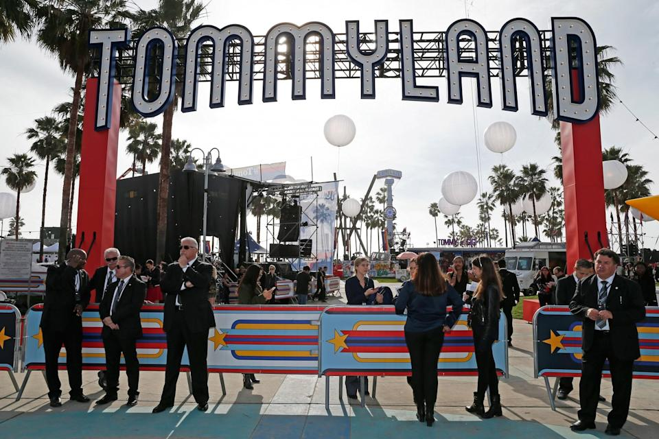 """<p>Tommy Hilfiger named his Venice Beach, Calif., venue """"TommyLand."""" (Photo: Getty Images) </p>"""