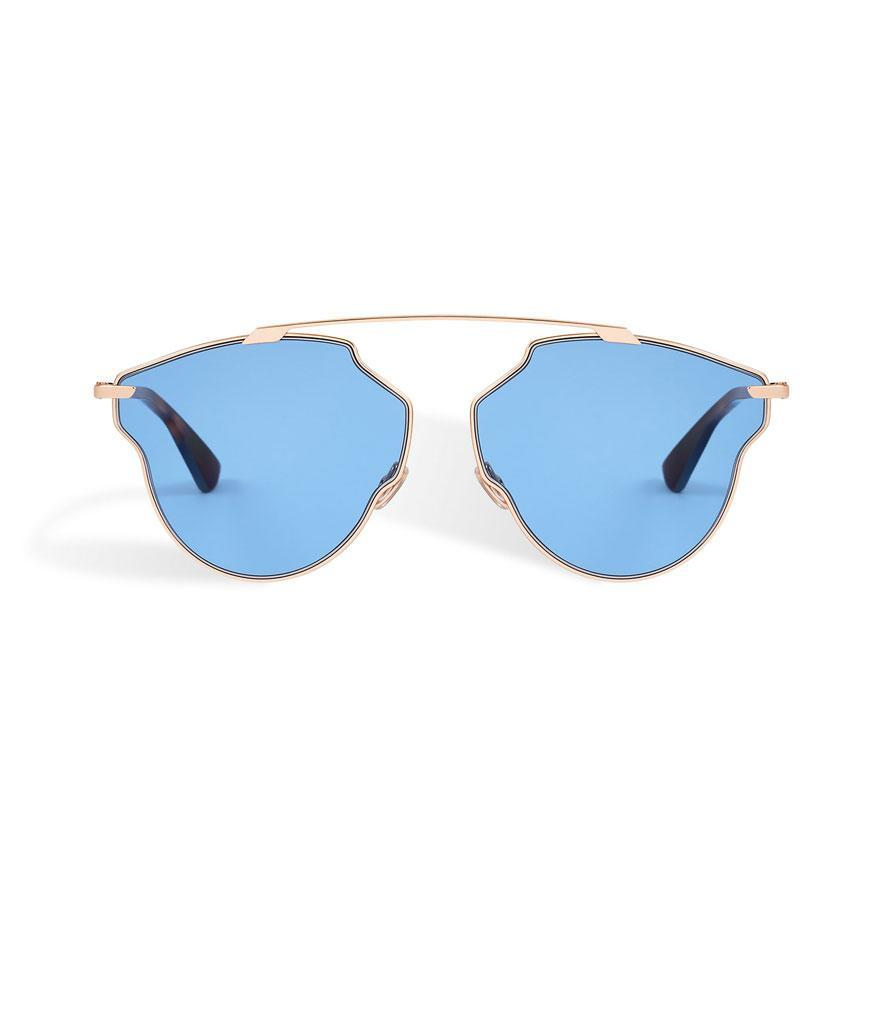 "<p>So Real Pop Sunglasses, $450, <a href=""http://www.dior.com/couture/en_us/womens-fashion/sunglasses/new-items/dior-so-real-pop-sunglasses-blue-11-41658"" rel=""nofollow noopener"" target=""_blank"" data-ylk=""slk:dior.com"" class=""link rapid-noclick-resp"">dior.com</a> </p>"