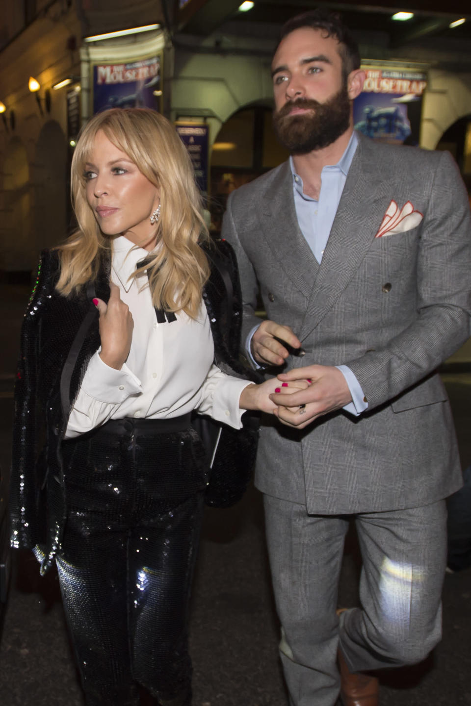 Kylie and her ex-fiance. (PA)