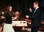 <p>Kate and Will try their hands at Harry Potter-style magic during a visit to Warner Bros. Studios.<br></p>