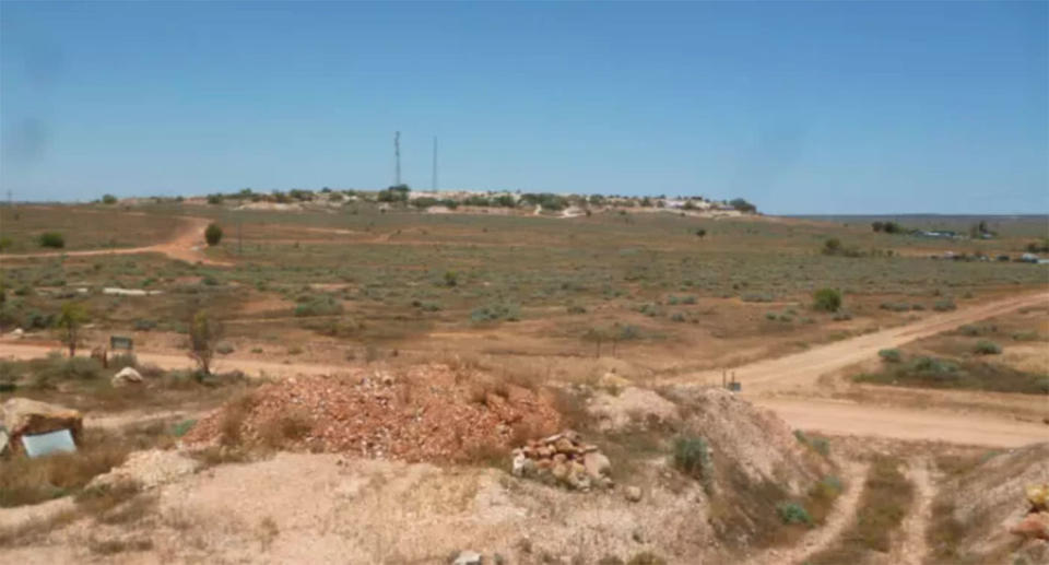 The dugout site is in the former opal mining community of White Cliffs, where about 200 people live. Source: Gumtree