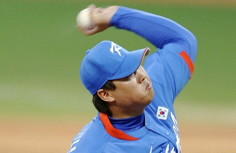 Ryu Hyun-jin throws for South Korea against Cuba at the 2008 Beijing Olympic Games. The Los Angeles Dodgers say they're looking forward to watching Ryu Hyun-jin pitch for them after signing the top South Korean left-hander to a six-year deal worth a reported $36 mn