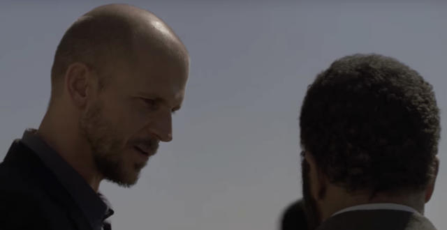 Our first glimpse of Gustaf Skarsgard as Karl Strand. (Photo: YouTube)