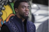 """<p><a class=""""link rapid-noclick-resp"""" href=""""https://www.amazon.com/Panther-Theatrical-Version-Chadwick-Boseman/dp/B079NKRK66?tag=syn-yahoo-20&ascsubtag=%5Bartid%7C10058.g.2509%5Bsrc%7Cyahoo-us"""" rel=""""nofollow noopener"""" target=""""_blank"""" data-ylk=""""slk:watch"""">watch</a> </p><p>What's so devastating is that this movie didn't <em>just</em> change the Marvel Cinematic Universe for the better, earn the first Oscar Best Picture nom for a superhero film (it won two other Oscars!), represent an enormous shift in the film industry, and become an inspiration to Black kids and adults alike. It's also one of Chadwick Boseman's final works before he passed away, having quietly battled colon cancer for years, including during production on this film. Watched in that new light, it makes his steely, beautiful, mesmerizing performance all the more heartbreaking. If you haven't watched, watch. If you have, watch it again. </p>"""