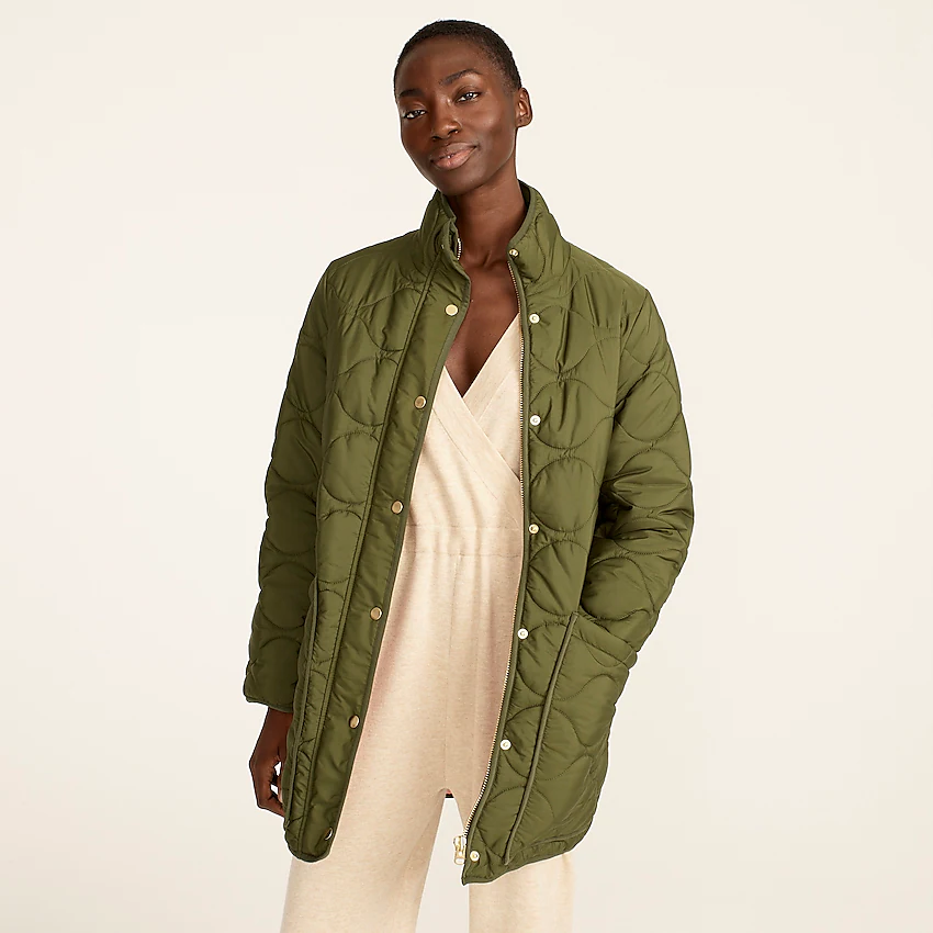 """<br><br><strong>J.Crew</strong> Quilted Cocoon Puffer with PrimaLoft, $, available at <a href=""""https://go.skimresources.com/?id=30283X879131&url=https%3A%2F%2Fwww.jcrew.com%2Fp%2Fwomens%2Fcategories%2Fclothing%2Fcoats-and-jackets%2Fpuffer%2Fquilted-cocoon-puffer-with-primaloft%2FAQ470"""" rel=""""nofollow noopener"""" target=""""_blank"""" data-ylk=""""slk:J.Crew"""" class=""""link rapid-noclick-resp"""">J.Crew</a>"""