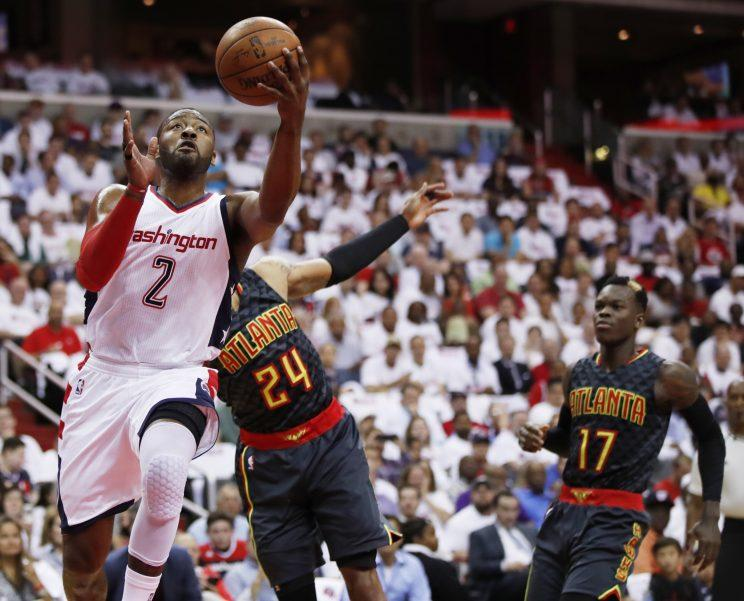 promo code 84870 c95e8 John Wall was all kinds of trouble for the Hawks, as his ...