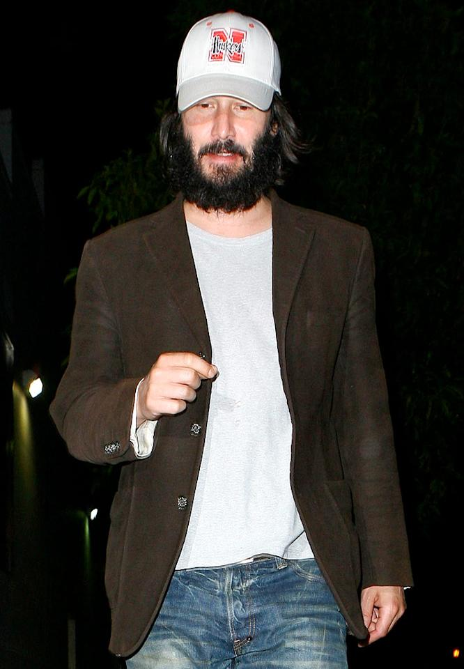 "Let's hope that Keanu is rocking a grizzly bear beard for an upcoming role and that he's not just too lazy to shave. <a href=""http://www.x17online.com"" target=""new"">X17 Online</a> - August 12, 2009"