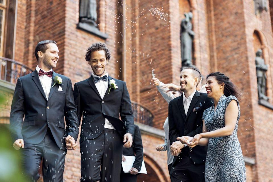 "<p>It's hard enough putting together a wedding guest list without navigating plus-ones. Many couples operate on a no ring, no bring policy or work off of how long you've been dating. You'll know you are given a plus-one once your invitation arrives, <a href=""https://www.goodhousekeeping.com/life/g19504286/wedding-etiquette-rules/?slide=2"" rel=""nofollow noopener"" target=""_blank"" data-ylk=""slk:according"" class=""link rapid-noclick-resp"">according</a> to Melanie Tindell, owner of <a href=""https://oakandhoneyevents.com/"" rel=""nofollow noopener"" target=""_blank"" data-ylk=""slk:Oak & Honey Events"" class=""link rapid-noclick-resp"">Oak & Honey Events</a>. But by the time the invitation rolls around it's best to assume that there has been a lot of thought put into the decision and just be happy you've been invited to share in their special day.</p>"
